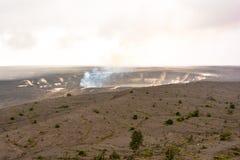 Kilauea caldera i den stora ön, Hawaii arkivfoton
