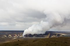 Kilauea Caldera, Kona, HI Stock Image