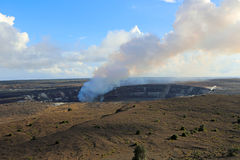 Kilauea Caldera with smoking Halema'umau crater Royalty Free Stock Photography
