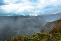 Kilauea Caldera in the Volcanoes National Park, Big Island, Hawaii. Panoramic viiew of the Kilauea Caldera in the Volcanoes National Park, Big Island, Hawaii Stock Image