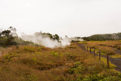 Kilauea caldera Volcanoes National Park. A view of a caldera at Kilauea in Volcanoes National Park, Hawaii Stock Photography