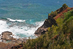 Kilauea coastline on Kauai Royalty Free Stock Images