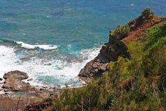 Kilauea coastline on Kauai. Scenic view of Kilauea National Wildlife Refuge coastline on Kauai island, Hawaii, U.S.A Royalty Free Stock Images
