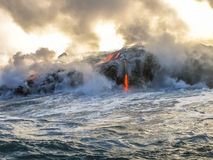 Kilauea, das in Hawaii lächelt lizenzfreie stockfotografie