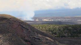 Kilauea fumoso Immagini Stock