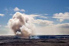 Kilauea Gas Plume Royalty Free Stock Photo