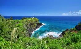 Kilauea Historical Lighthouse Kauai Island Stock Photos