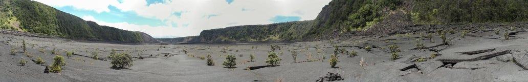 Kilauea Iki火山口视图,大岛,夏威夷 免版税库存照片