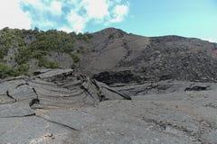 Kilauea Iki crater view, Big Island, Hawaii. Kilauea Iki crater view and trail path, Big Island, Hawaii Royalty Free Stock Photo