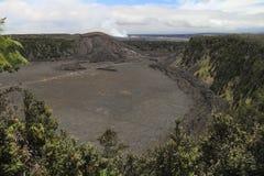 Kilauea Iki crater view, Big Island, Hawaii. Kilauea Iki crater view and trail path, Big Island, Hawaii Stock Photography