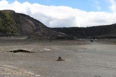 Kilauea Iki crater view, Big Island, Hawaii. Kilauea Iki crater view and trail path, Big Island, Hawaii Stock Photos