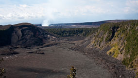 Kilauea Iki and Kilauea Caldera Stock Image