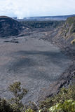 Kilauea Iki and Kilauea Caldera Royalty Free Stock Photo