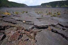 Kilauea Iki Trail. In Volcano National Park on Hawaii Island. This is the floor of the caldera Royalty Free Stock Image