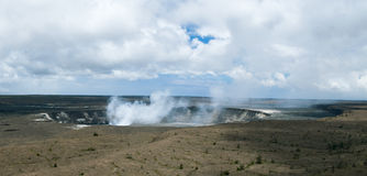 Kilauea Krater Stockfoto