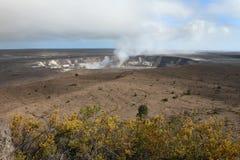 Kilauea Krater lizenzfreie stockfotos