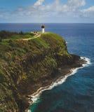 Kilauea Leuchtturm lizenzfreie stockbilder