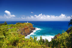 Kilauea lighthouse bay on a sunny day in Kauai Stock Photography