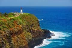 Kilauea lighthouse bay on a sunny day in Kauai Stock Images