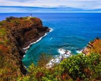 Kilauea Lighthouse Bay. On a sunny day in Kauai, Hawaii Islands Royalty Free Stock Image