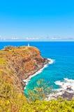 Kilauea lighthouse in Kauai island, Hawaii Stock Photos