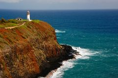 Kilauea Lighthouse, north Kauai Stock Images