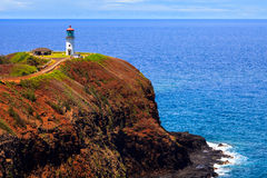 Kilauea Lighthouse. On a sunny day in Kauai, Hawaii Islands Royalty Free Stock Photography