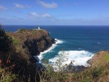 Kilauea Lighthouse and Wildlife Refuge Lookout on Kauai Island, Hawaii. Stock Photography