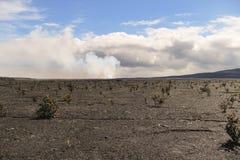 Kilauea main crater and caldera view, Big Island, Hawaii. Kilauea main crater and caldera view, Kilauea is a currently active shield volcano in the Hawaiian Stock Photos