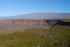 Kilauea and Mauna Loa Volcanoes Hawaii Stock Photo