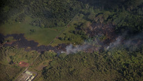 Kilauea menace des maisons d'Hawaï Photos libres de droits