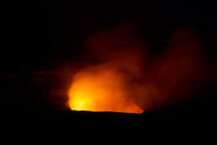 Kilauea nachts lizenzfreie stockbilder