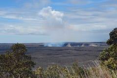 Kilauea Rising. Steam rising from the caldera of Kilauea stock photography