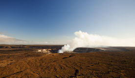 Kilauea volcano on big island hawaii Royalty Free Stock Photography