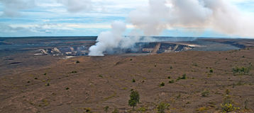 Kilauea Volcano on Big Island of Hawaii. The Halema\'uma\'u crater in the Kilauea Caldera. Located in the Volcano National Park on the Big Island of Hawaii Stock Photo