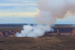 Kilauea Volcano on Big Island of Hawaii. The Halema'uma'u crater in the Kilauea Caldera. Located in the Volcano National Park on the Big Island of Hawaii Stock Photo