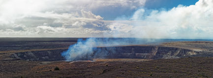 Kilauea Volcano on Big Island, Hawaii Royalty Free Stock Image