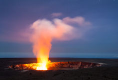 Kilauea Volcano Caldera Royalty Free Stock Photography