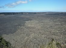 Kilauea Volcano Caldera on a Sunny Day. Big Island, Hawaii royalty free stock image