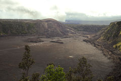 Kilauea volcano crater Royalty Free Stock Images
