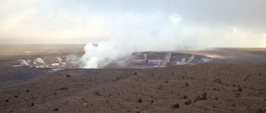 Kilauea volcano crater - panorama Stock Photo