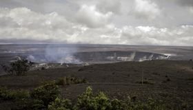 Kilauea volcano before eruption on the big island. Kilauea volcano in volcanos national park big island hawaii one month prior to eruption royalty free stock photos