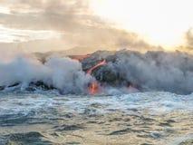 Kilauea Volcano Hawaii arkivbilder