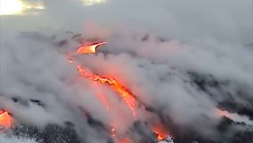 Kilauea Volcano Hawaii stock video footage