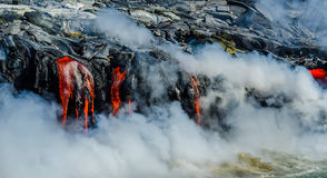 Kilauea Volcano Lava Flow Foto de Stock Royalty Free