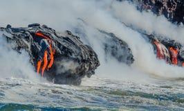 Kilauea Volcano Lava Flow lizenzfreie stockbilder