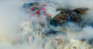 Kilauea Volcano Lava Flow Imagem de Stock Royalty Free