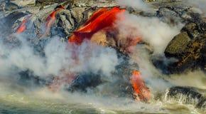 Kilauea Volcano Lava Flow Arkivfoton
