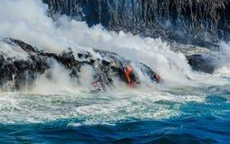 Kilauea Volcano Lava Flow Fotos de archivo libres de regalías