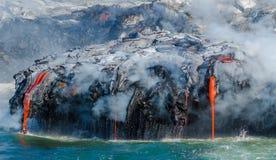 Kilauea Volcano Lava Flow Fotografia de Stock Royalty Free